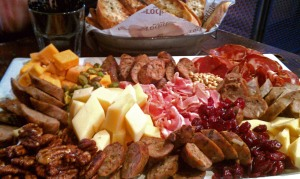 Charcuterie plate at Rockit Chicago