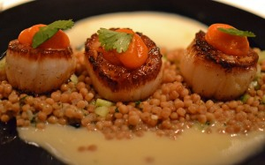 Seared Scallops at Niche Geneva